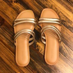 Gold strap sandals